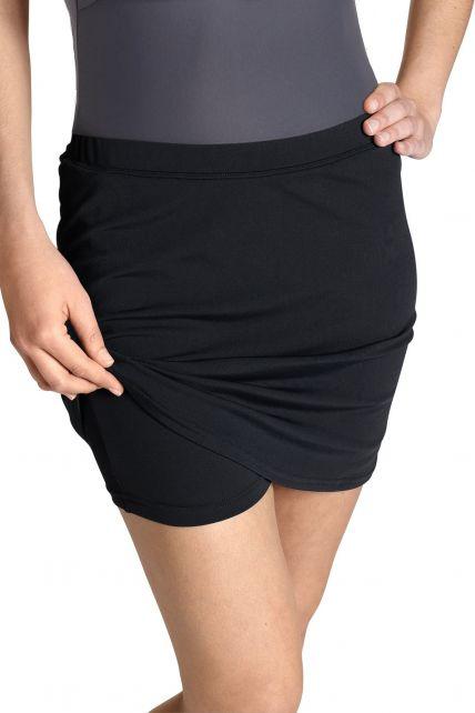 Coolibar---Women's-UV-Swim-Skort---Black
