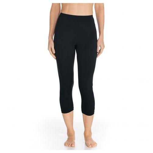 Coolibar---UV-Swim-Legging-Capri-for-women---Deep-Water---Black