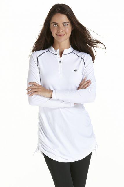 Coolibar---Ruche-Swim-Shirt---White