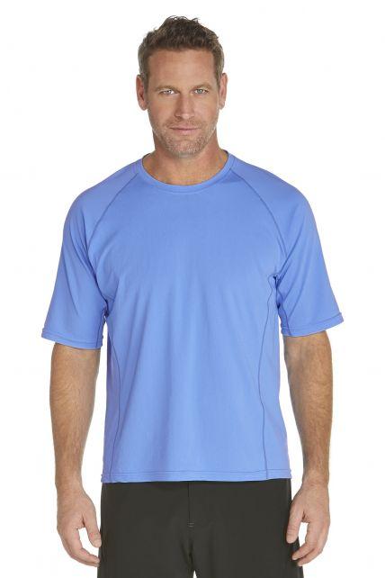 Coolibar---Men's-Short-Sleeve-Swim-Shirt---light-blue
