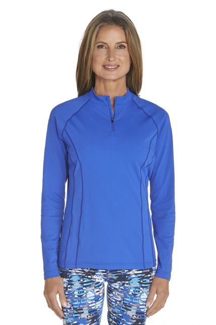Coolibar---UV-Swim-shirt-long-sleeve-women---Kobalt-Blue