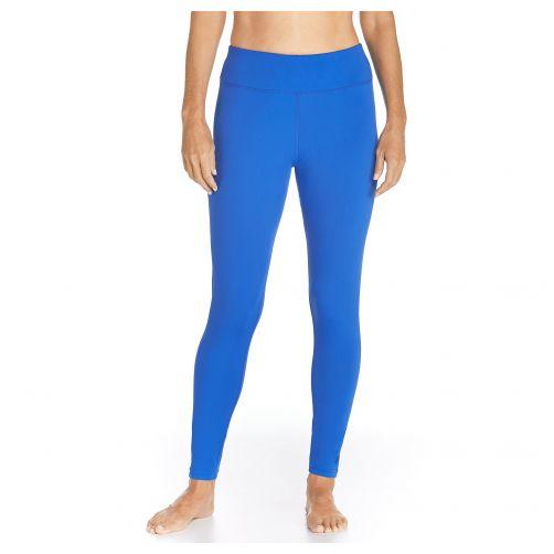 Coolibar---UV-swim-leggings-for-women---Baja-blue