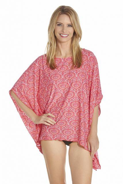 Coolibar---UV-Beach-poncho-women---Pink