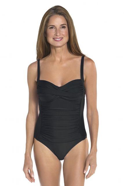 Coolibar---UPF-50+-Women's-Ruche-Bandeau-Swimsuit-UV-Swimwear--Black