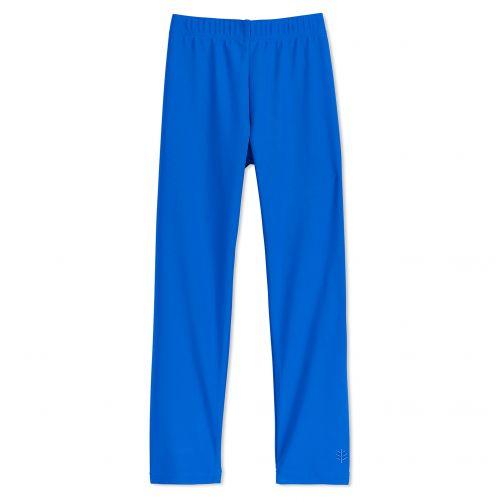 Coolibar---UV-swim-leggings-for-children---Baja-blue