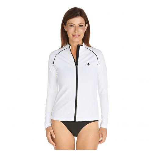 Coolibar---UV-swim-jacket-for-women---Black-/-White