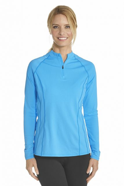 Coolibar---UV-Swim-shirt-long-sleeve-women---Azure-bauw