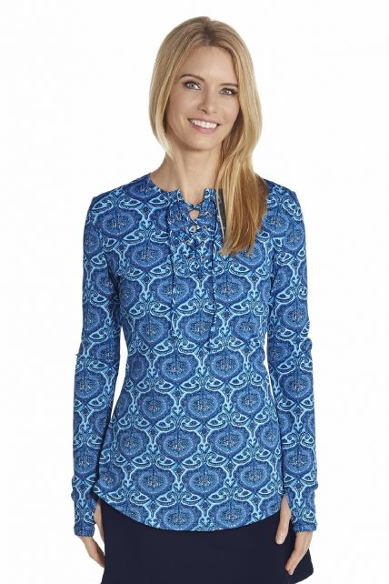 Coolibar---UV-Swim-shirt-with-lace---Blue