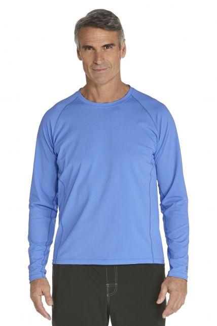 Coolibar---Men's-Long-Sleeve-Swim-Shirts---surf-blue