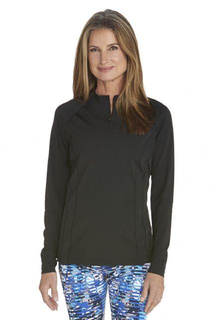 Coolibar---UV-Swim-shirt-long-sleeve-women---Black