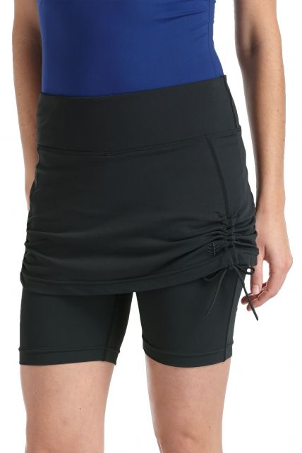 Coolibar---Skirted-UV-Swim-Shorts---Black