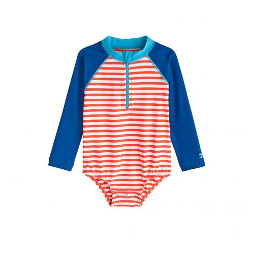 Coolibar---UV-bathing-suit-for-babies---Long-sleeve---Tango-Stripe