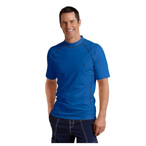Coolibar---UV-swim-shirt-for-men---Royal-blue