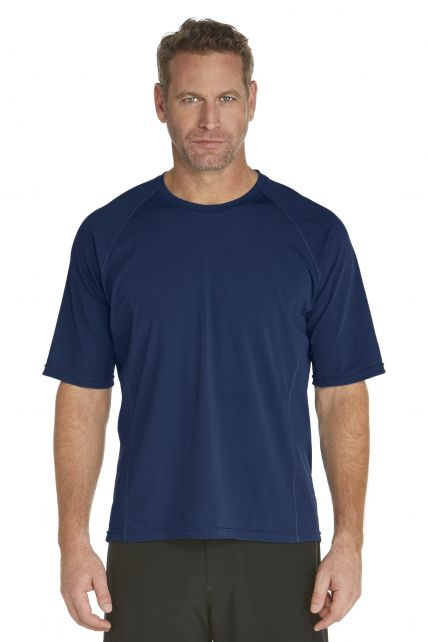 Coolibar---Men's-Short-Sleeve-Swim-Shirt---navy