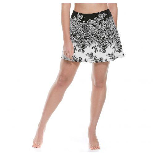 Coolibar---UV-Swim-skirt-for-women---Black-Paisley
