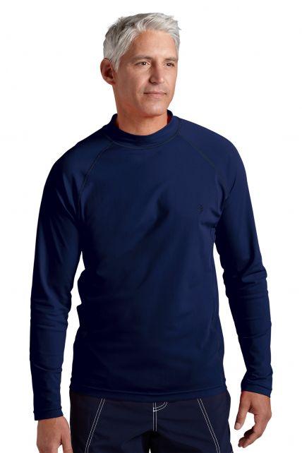 Coolibar---Men's-Long-Sleeve-Swim-Shirts--Navy