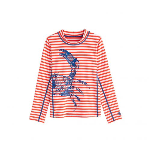 Coolibar---UV-swim-shirt-for-children---Blue-Crab