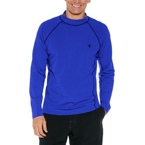 Coolibar---Men's-UV-swimshirt---long-sleeve---Cobalt-Blue