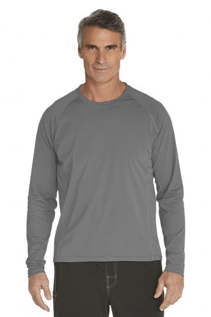 Coolibar---Men's-Long-Sleeve-Swim-Shirts---grey