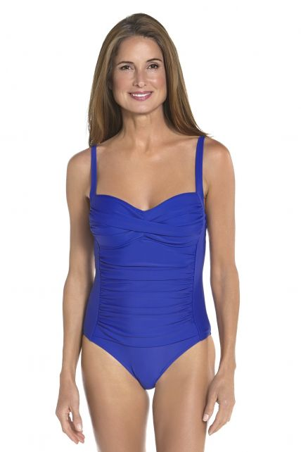 Coolibar---UPF-50+-Women's-Ruche-Bandeau-Swimsuit-UV-Swimwear--Baja-Blue