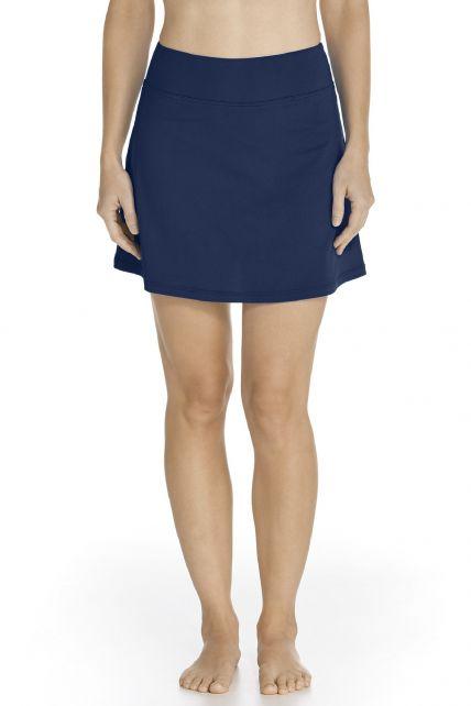 Coolibar---UV-Swim-skirt-women---Dark-Blue