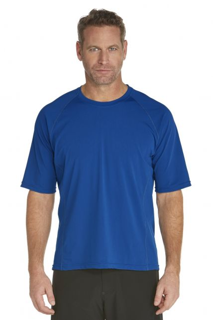 Coolibar---Men's-Short-Sleeve-Swim-Shirt---Royal
