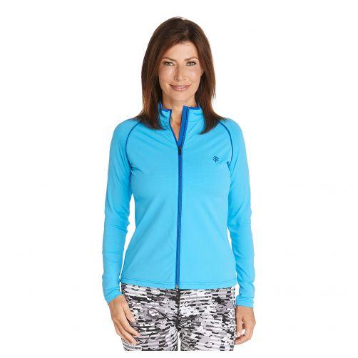 Coolibar---UV-swim-jacket-for-women---Azure-blue