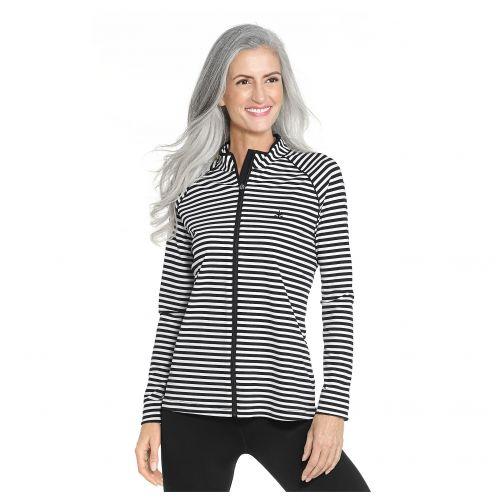 Coolibar---UV-Swim-Jacket-for-women---Macarella---Black/White