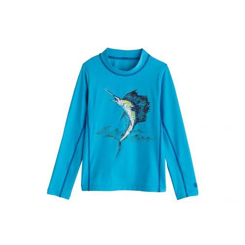 Coolibar---UV-swim-shirt-for-children---Scuba-Sailfish