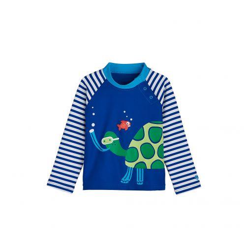 Coolibar---UV-swim-shirt-for-babies---Snorkelling-Sea-Turtle