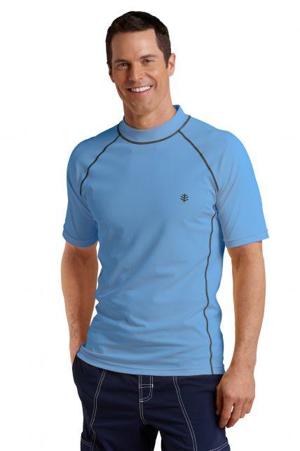 Coolibar---Men's-Short-Sleeve-Swim-Shirt---Surf-Blue
