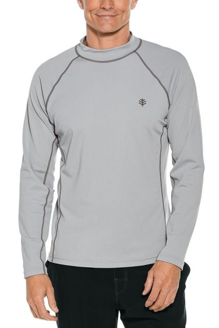 Coolibar---Men's-UV-swimshirt---long-sleeve---Mercury-Grey