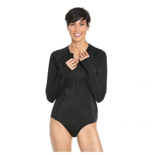 Coolibar---UV-bathing-suit-for-women-longsleeve---Black