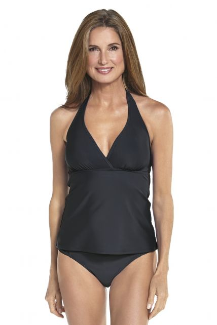 Coolibar---UPF-50+-Women's-Halter-Tankini-Top-UV-Swimwear--Black