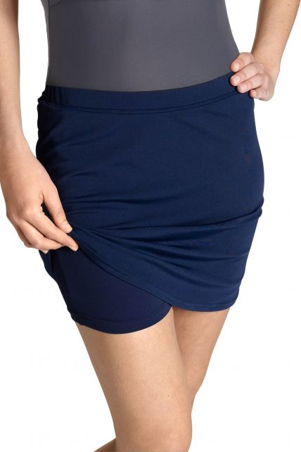 Coolibar---Women's-UV-Swim-Skort---Navy