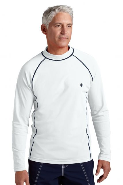 Coolibar---Men's-Long-Sleeve-Swim-Shirts--White