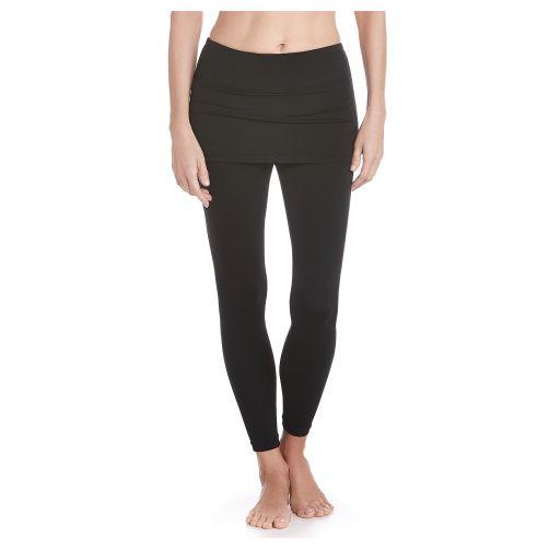 Coolibar---Skirted-swim-leggings-for-women---Black
