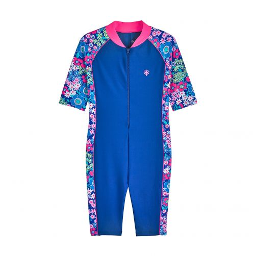 Coolibar---UV-swimsuit-for-children---blue-with-flowers