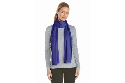 Coolibar---UV-resistant-sun-scarf---Blue