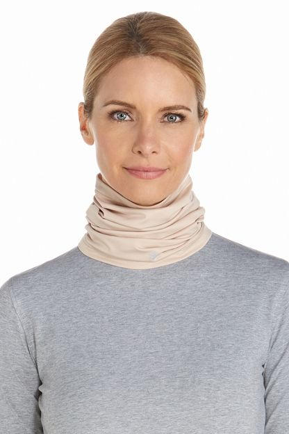 Coolibar---UV-resistant-Neck-Gaiter-for-adults---La-Plata---Beige