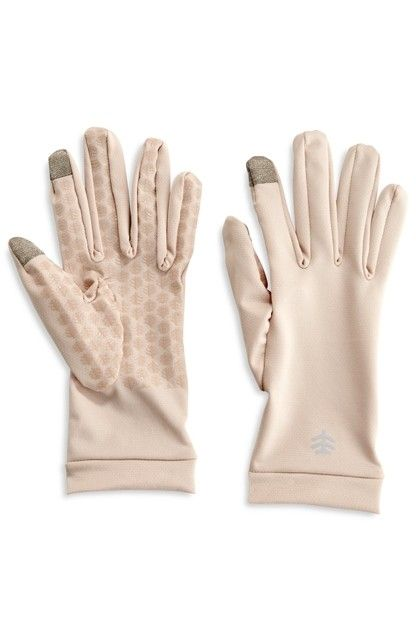 Coolibar---UV-resistant-gloves-for-adults---Gannett---Beige
