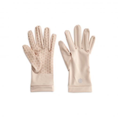 Coolibar---UV-resistant-gloves-for-adults---Sawyer---Beige