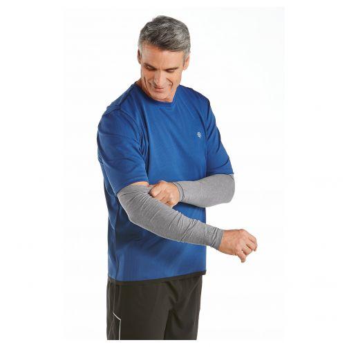 Coolibar---UV-sleeves-for-men---Grey-heather