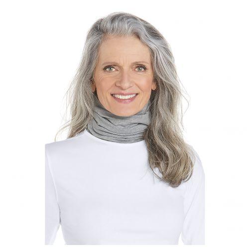 Coolibar---UV-neck-gaiter-unisex--Side-vents---Grey-heather