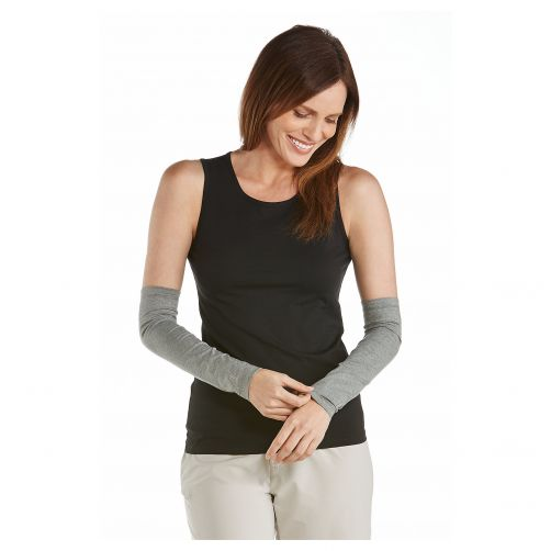 Coolibar---UV-sleeves-for-women---Grey-heather