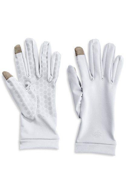 Coolibar---UV-resistant-gloves-for-adults---Gannett---White