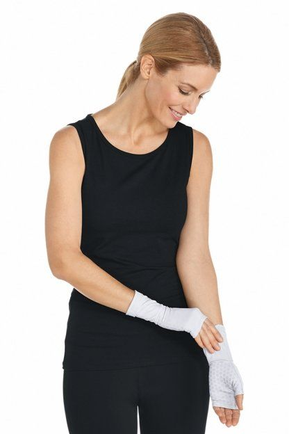 Coolibar---UV-resistant-sleeves-with-hands---White