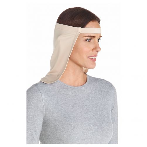 Coolibar---UV-neck-flap-unisex--Beige