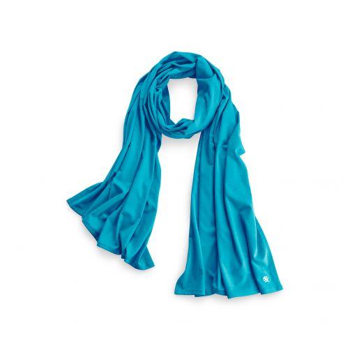 Coolibar---UV-sun-scarf---Turquoise