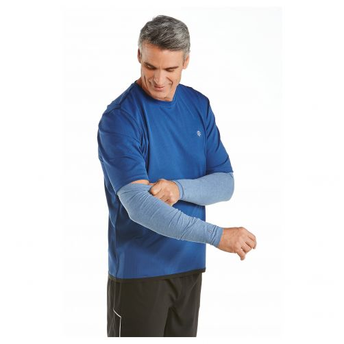 Coolibar---UV-sleeves-for-men---Pacific-heather-blue